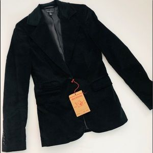 TRUE RELIGION Tailored Crushed Velvet Blazer NWT